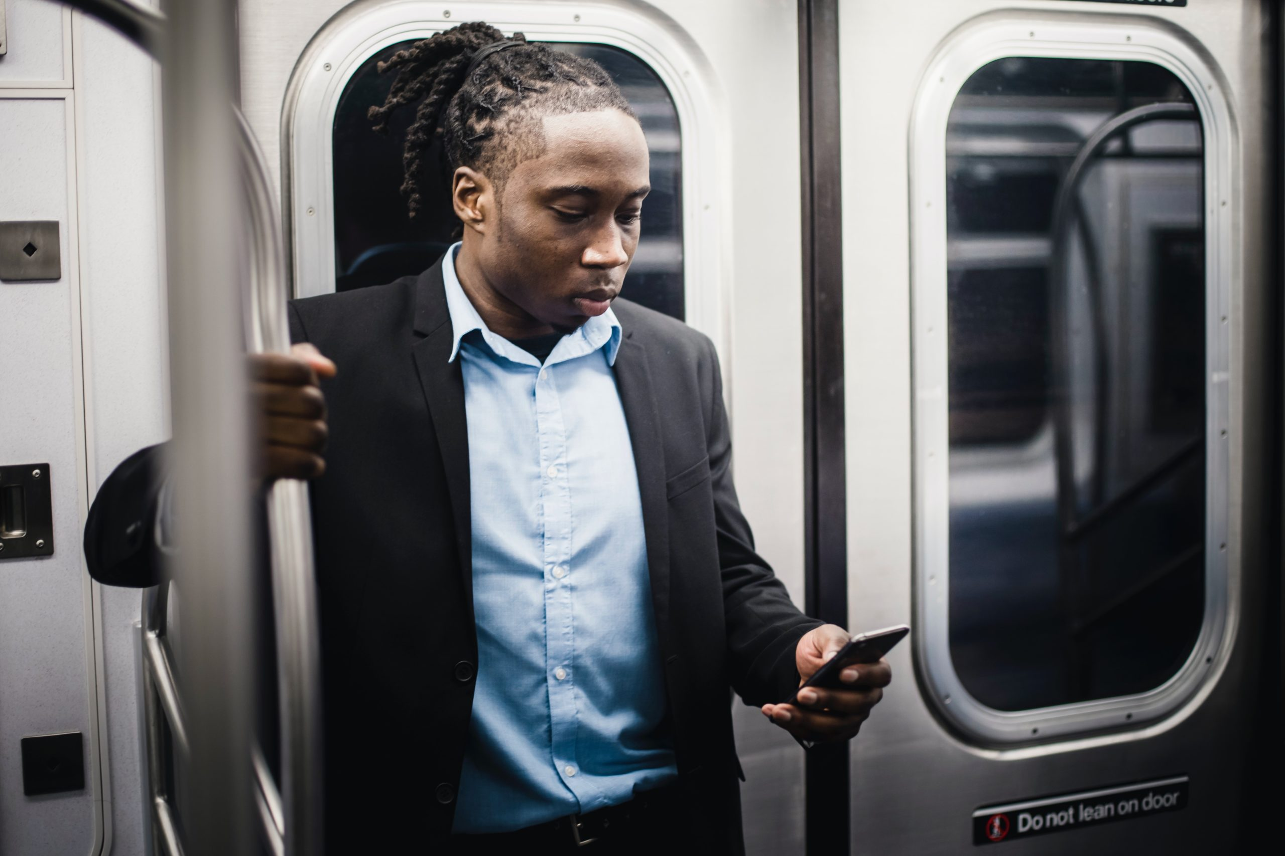 Business phones on the train - what a time to be alive