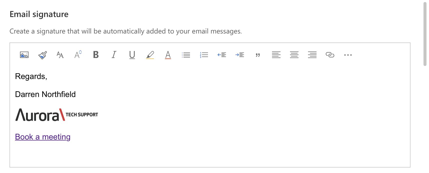 Microsoft 365 - Signature