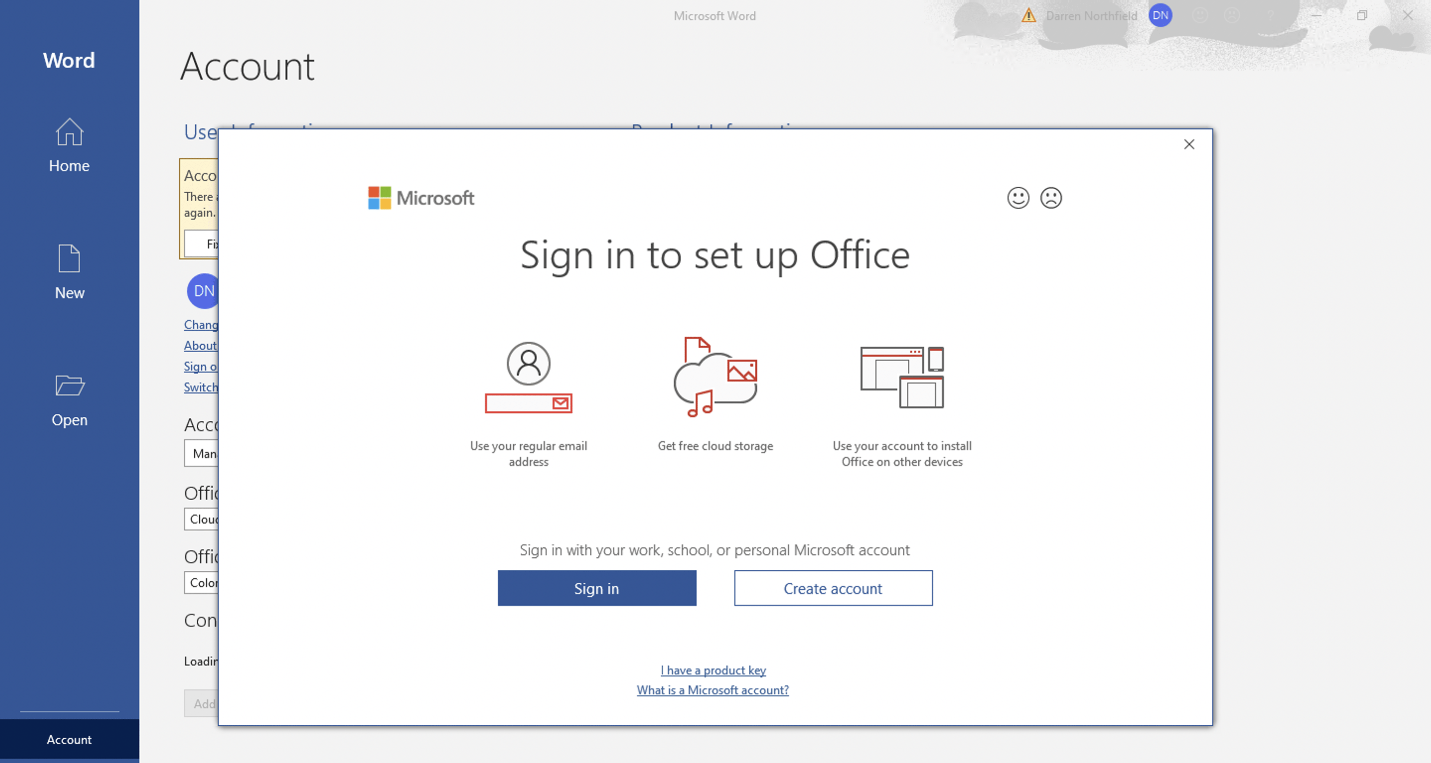 Microsoft 365 - Sign in to set up Office