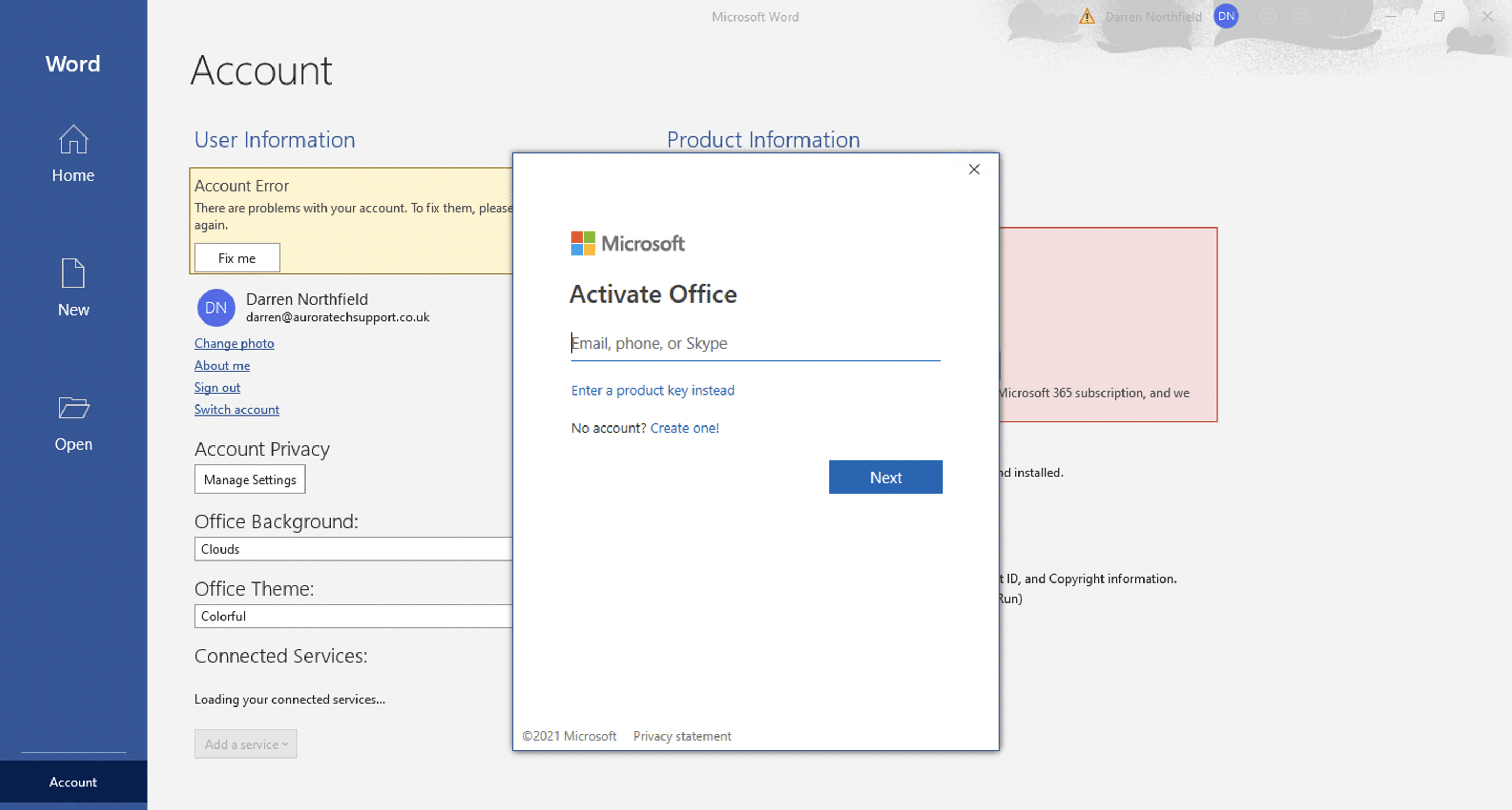 Microsoft 365 - Activate Office