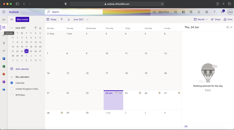 Microsoft 365 - Calendar share
