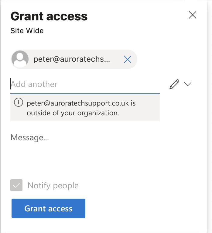 Microsoft 365 Direct access grant access