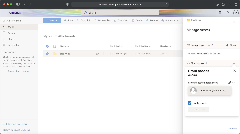 Microsoft 365 - Select name