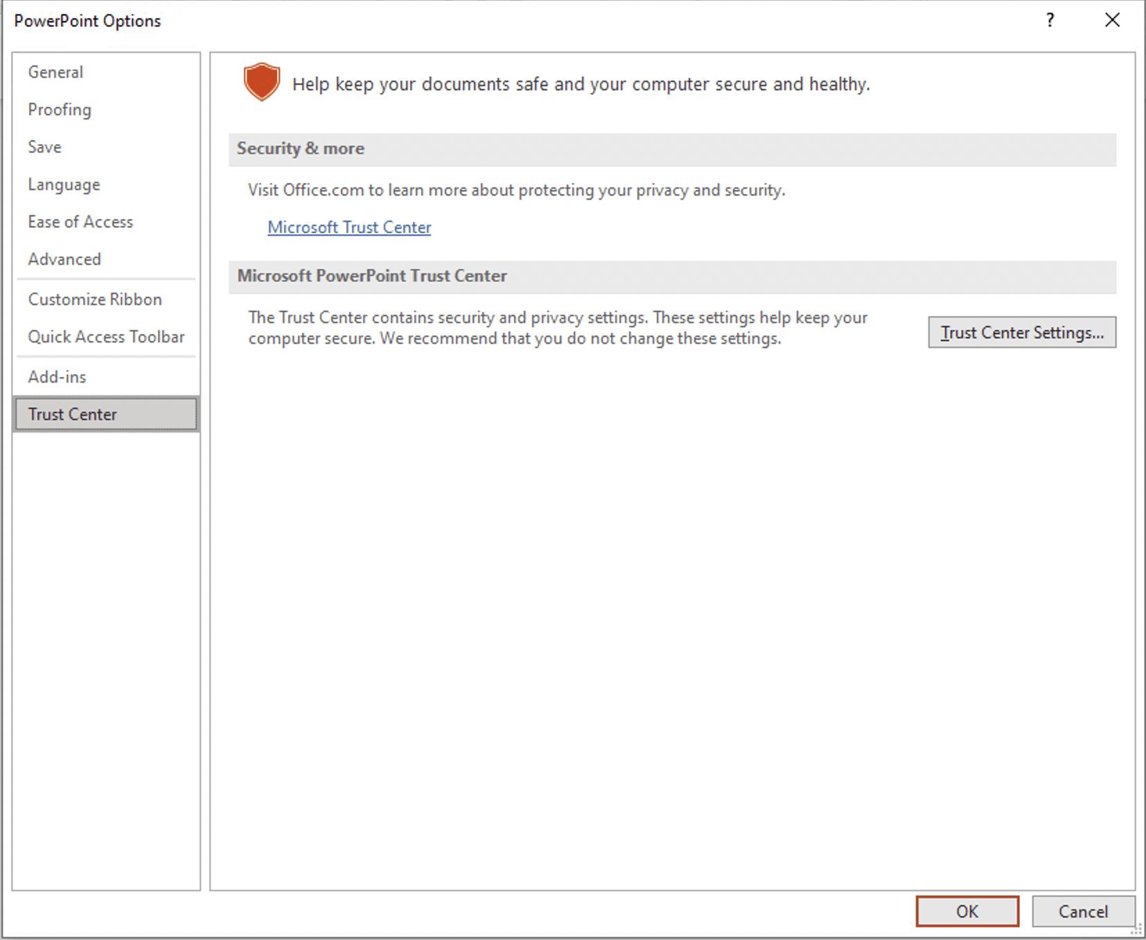 Microsoft 365 - Trusted location