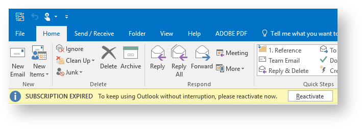 Microsoft 365 - Reactivate
