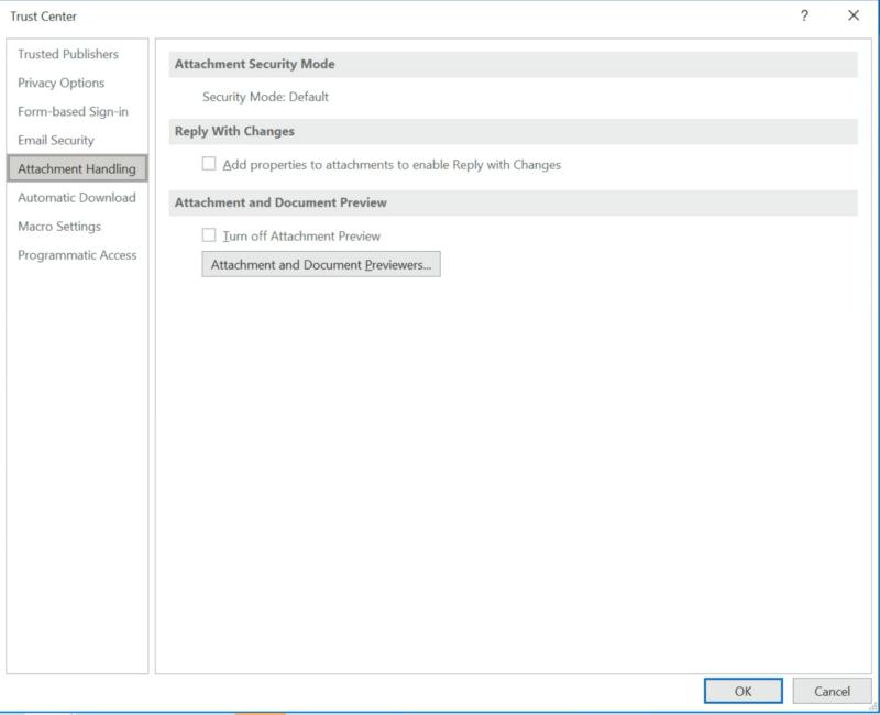 Microsoft 365 - Outlook attachment handling